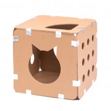 Домик-коробка для кошек сборный. Базовый набор, 1 куб