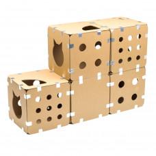 Домик-коробка для кошек сборный. Полный набор, 5 кубов